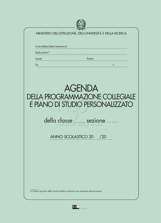 Agenda programmazione collegiale acquista in myo s p a for Piano di studio
