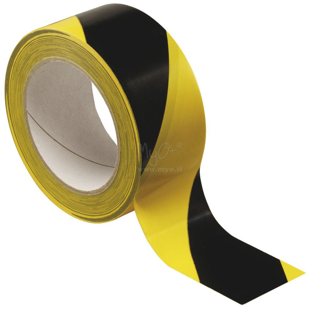 Nastro adesivo segnaletico giallo/nero acquista in MyO S.p.a. Cancelleria forniture per ufficio